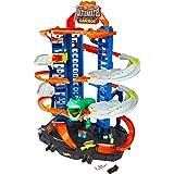Hot Wheels Ultimate Garage, garaje y pista para coches de juguete (Mattel GJL14)