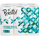 Presto! 2 Ply Kitchen Tissue/Towel Paper Roll - 6 Rolls (60 Pulls Per Roll)