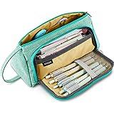 Trousse à Crayons Grande Capacité Porte-crayons à Stylos Trousse à Maquillage Organisateur de Rangement de Fournitures avec P
