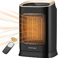 COMLIFE Heizlüfter Ventilator mit 70° Oszillationsfunktion, Digitaler Keramik Heizlüfter mit Fernbedienung, Timing…