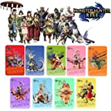 9PCS Monster Hunter Rise NFC Tag Card, Include: Palamute, Palico, Magnamalo, Compatibile Con Switch / Switch Lite / New 3DS
