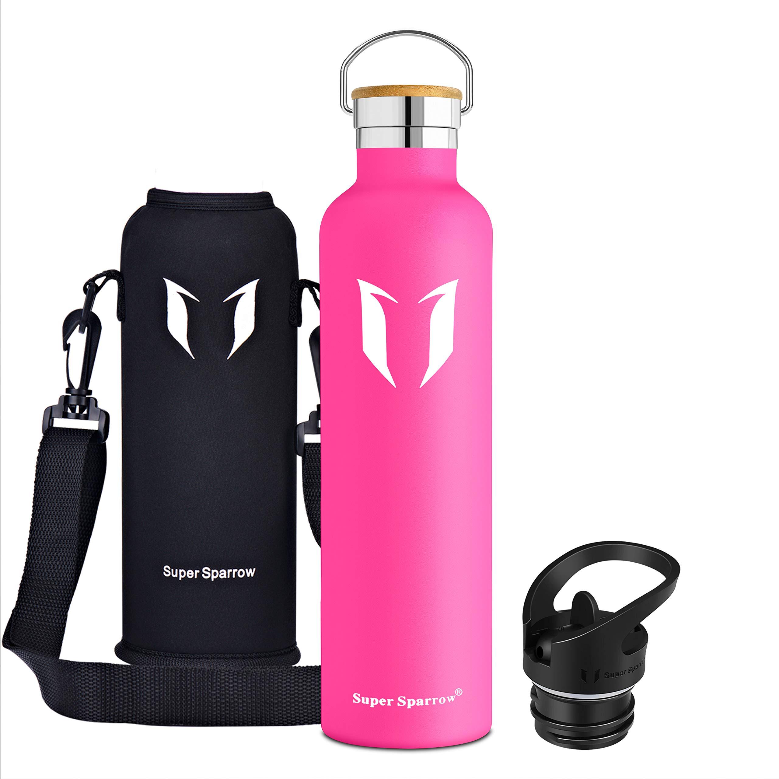 Super Sparrow Trinkflasche – 620ml / 1000ml – Wasserflasche Doppelwandig Vakuum Isoliert Edelstahl – Auslaufsicher Sport…