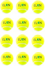 Elan TB-002 Tennis Ball, Pack of 12 (Green)