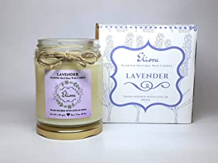 Lavender Scented Candle Made with Blended Natural Wax and fine Fragrance Oils for a Healthy and Clean Burn