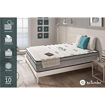 Naturalex Matelas Visco Carbone Mémoire De Forme Bio Memory Et Viscotex Confort Tonique 7 Zones De Confort 25 Cm 140 X 190 Cm