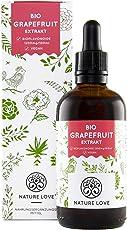 Bio Grapefruitkernextrakt von Nature Love. 1200mg Bioflavonoide / 100ml. Laborgeprüft und Bio zertifiziert. Grapefruit Extrakt aus Kern und Schale. Hochdosiert, vegan und hergestellt in Deutschland