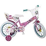"Toimsa Minnie 16"" Bicicleta Infantil, Rosa"
