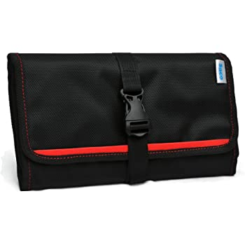 Saco Gadget Organizer Bag For All Gadgets, Power Bank, Cables, Usb Pen Drives, Mobile Phone Accessories Memory Cards, Simcards, DSLR Digital Camera Accessories Organiser / Universal Travel Bag Go Bag /Universal Travel Kit Organizer For Small Electronics And Accessories & Other Digital Devices - (Red)