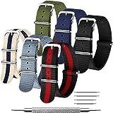 CIVO NATO Cinturino 6 Confezioni 16mm 18mm 20mm 22mm 24mm Cinturini in nylon balistico Cinturini Zulu Fibbia in acciaio inoss