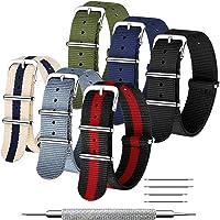 CIVO NATO Cinturino 6 Confezioni 16mm 18mm 20mm 22mm 24mm Cinturini in nylon balistico Cinturini Zulu Fibbia in acciaio…