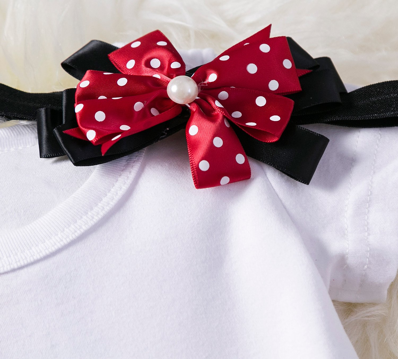 TTYAOVO Bebé Niña 1er cumpleaños 3pcs Conjuntos con Diadema de Unicornio y Mameluco y Faldas 2