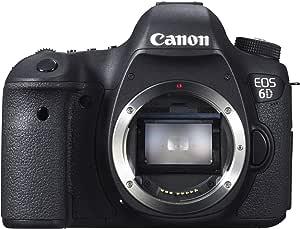 Canon EOS 6D SLR-Digitalkamera (20,2 MP, 7,6cm (3 Zoll) Display, DIGIC 5+, WLAN und GPS) nur Gehäuse) schwarz