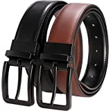 "RBOCOTT Mens Reversible Belt Leather Dress Casual Belts 1.3"" for Men,One Belt Reverse for 2 Sides"