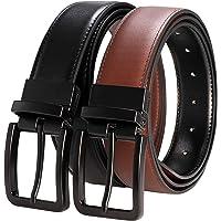 """RBOCOTT Mens Reversible Belt Leather Dress Casual Belts 1.3"""" for Men,One Belt Reverse for 2 Sides"""