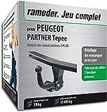 Rameder Attelage démontable avec Outil pour Peugeot Partner Tepee + Faisceau 7 Broches (128837-06738-1-FR)