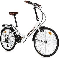 "Moma Bikes, Vélo de Ville Pliant, TOP CLASS 24"", Aluminium, 6V, Selle Comfort"