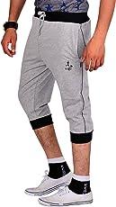 VEGO Men's Casual Cotton 3/4th Capri Pants
