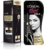 L'Oreal Paris Super Liner Gel Intenza Eyeliner, Profound Black, 2.8g And L'Oreal Paris Kajal Magique, Bold, 0.35g
