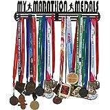 RUNWYND Steel My Marathon Metal Medal Hanger Big Size - Black