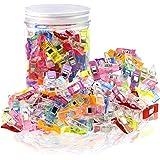 WisFox Clips de couture MumCraft, pinces à couture polyvalentes, clips magiques, pinces à encolure avec paquet de boîtes PS Assorties 9 couleurs lumineuses
