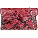 Girly Handbags de piel de serpiente del bolso de embrague