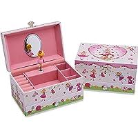 Lucy Locket Portagioie 'Fantina Magica' (portagioie, carillon musicale, scatola regalo per bambini) - Rosa glitterato…