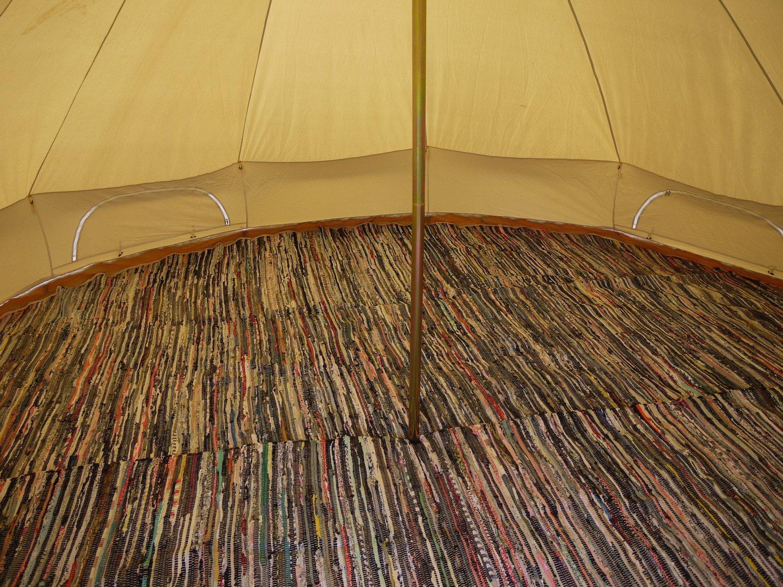 Bell Tent Half Moon Rag Rugs 1