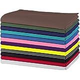 SweetNeedle - Paquete de 12 - Servilletas grandes de algodón 100% algodón 50 CM x 50 CM (20 IN x 20 IN), Multicolores - Tejid
