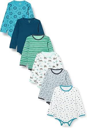 Care Baby - Langarmbody Junge und Mädchen aus Baumwolle im 3er Pack und 6er Pack
