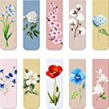 10 Pieces Magnetic Bookmarks Magnet Page Markers Assorted Book Markers Set for Students Reading (Flower Syle, 2.3 x 0.8 Inch)