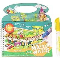 Parteet Reusable Magic Water Painting Book Magic Doodle Pen Kids Coloring Doodle Drawing Board Games Child Educational…