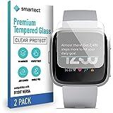 smartect Beschermglas compatibel met Fitbit Versa [2 stuks] - Screen protector met 9H hardheid - Bubbelvrije beschermlaag - A