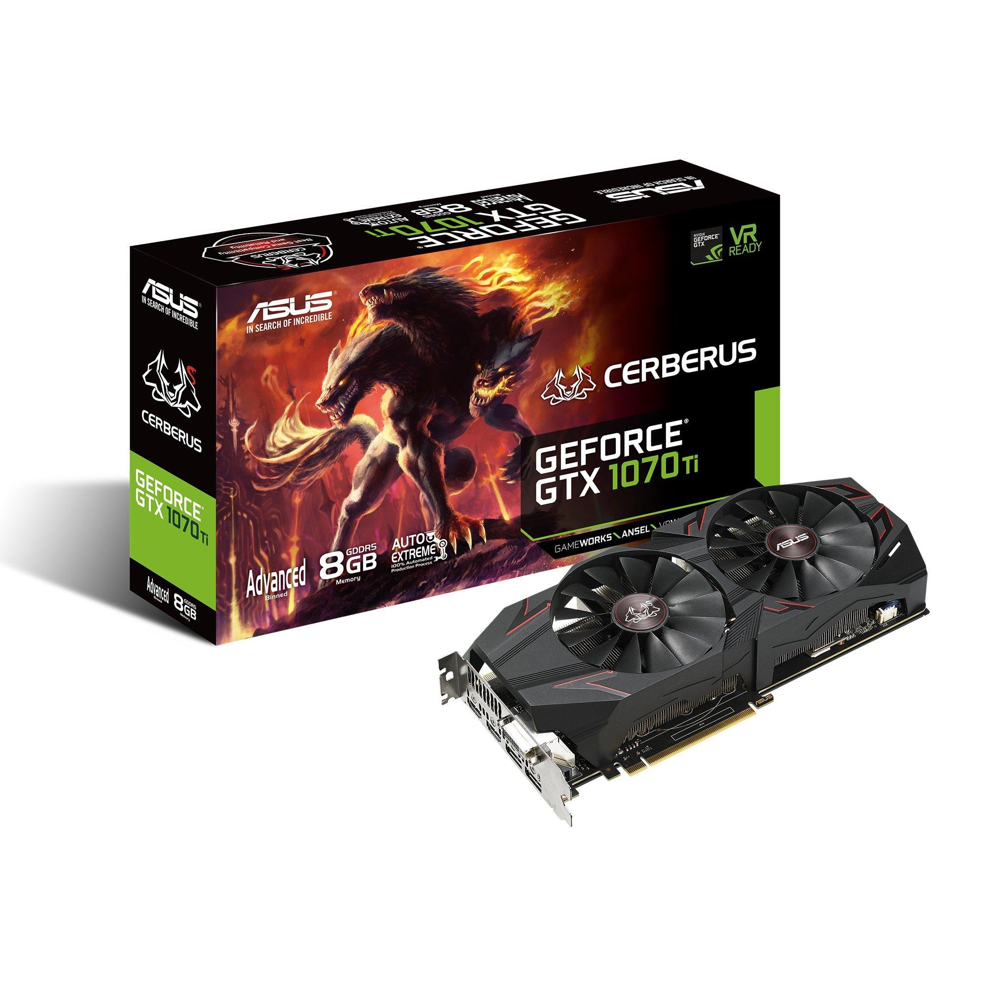 ASUS 90YV0BJ1-M0NA00 Carte Graphique Nvidia GeForce GTX 1070 8192 Mo PCI Express