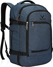 Hynes Eagle Travel Backpack 40L Flight Approved Carry on Backpack Blue