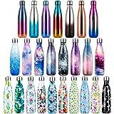 Lalafancy Vacuüm Geïsoleerde Roestvrijstalen Drinkfles, BPA-vrije Waterfles Lekvrij 350ml/500ml/750ml Thermosfles Dubbelwandi