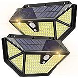 Lampe Solaire Extérieur [2 Packs 286 LEDs - 2600 lumens]OMERIL Lumière Solaire avec Détecteur de Mouvement,3 Modes d'éclaira