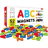 PLAY POCO ABC Magnets Capital Letters - 52 Magnetic Letters - Ideal for Alphabet Learning & Spelling Games - Made from Non-To
