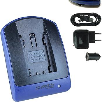 VW-VBT380 Micro USB Ladegerät Ladeschale für PANASONIC HC-WX979 VW-VBT190