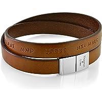 Armband Herren Gravur Leder braun Mann Leder Armband Koordinaten Männer Armband Text Männer Geschenke Herrenschmuck…