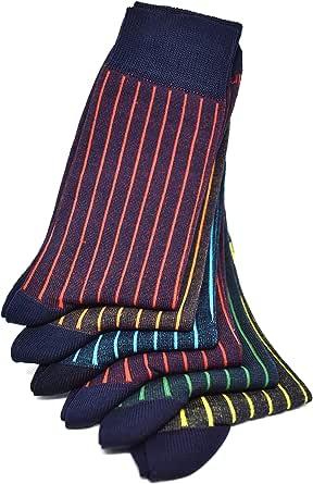 RV97 Calze da Uomo (3/6 Paia - Corte/Lunghe - Estive/invernali) Calzini Fantasia Eleganti e Colorati, Made in Italy, 95% Fresco/Caldo Cotone 5% Elastiche