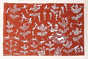 Tribes India Canvas Painting (54 cm x 7 cm x 7 cm, Off-White)