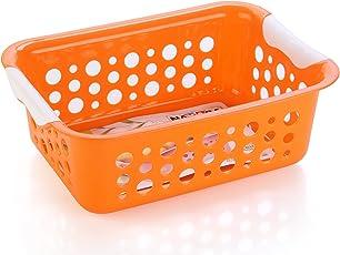 Nayasa Spotty No. 2 Fruit Basket, Set of 2, Orange