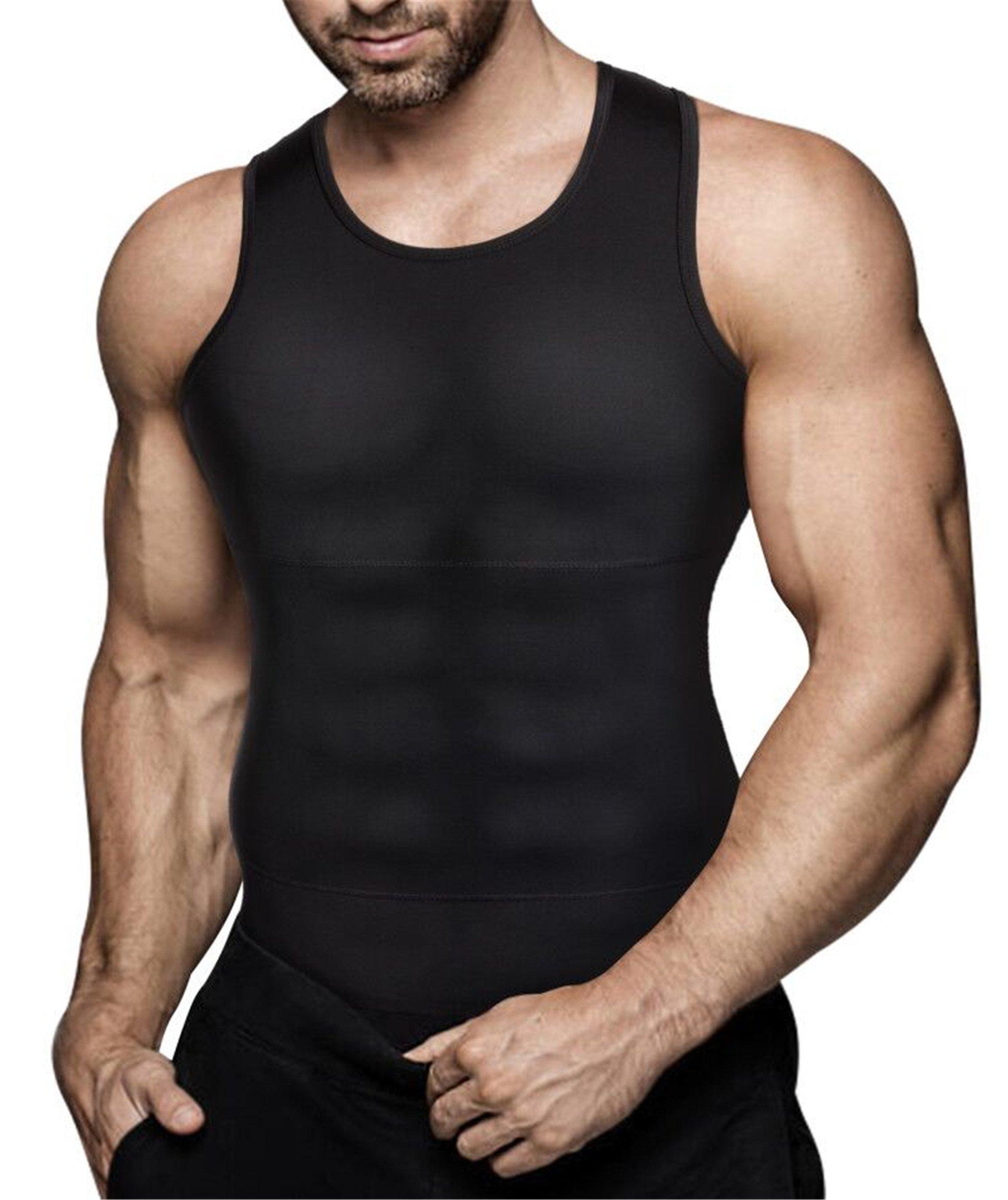 Uomini Canotta Dimagrante Body Shaper Camicia A Compressione Nascondere Il Ginecomastia Moobs Chest Dimagrante Shapewear Canotta Intima