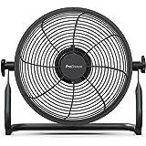 Pro Breeze Ventilateur de Sol Rechargeable de 30 cm, Batterie 4h30 ou 24h et tête Ajustable, Port USB, Portable et Silencieux