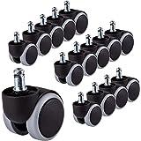 voor 3 stoelen Rubberen wielen 50 mm Bureaustoel Zwenkwiel Vervanging Dubbele zwenkwielen Meubels Apparaten & uitrusting Set