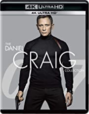007: Daniel Craig as James Bond 4 Movies Collection on 4K Ultra HD - Casino Royale + Quantum of Solace + Skyfall + Spectre (4K UHD) (4-Disc Box Set)