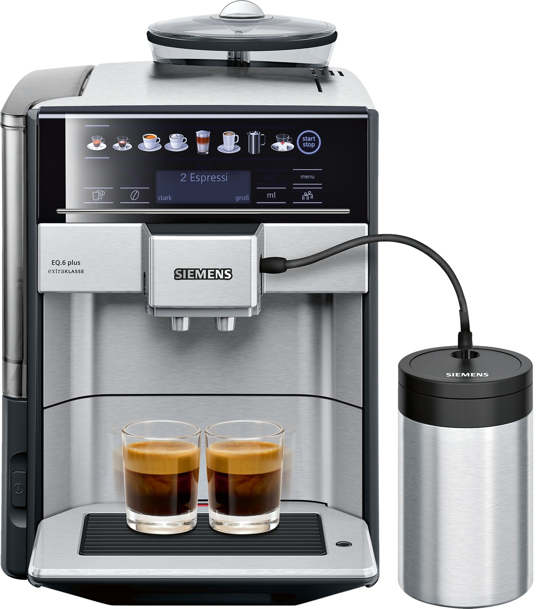 Siemens TE657F03DE EQ.6 plus S700 Extraklasse Kaffeevollautomat +Milchbehälter