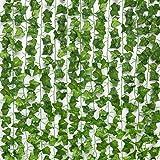 SOMONEY 15 paquetes de 105 pies Plantas Hiedra Artificial Decoración Interior y Exterior Guirnalda Hiedra Artificial De Hogar