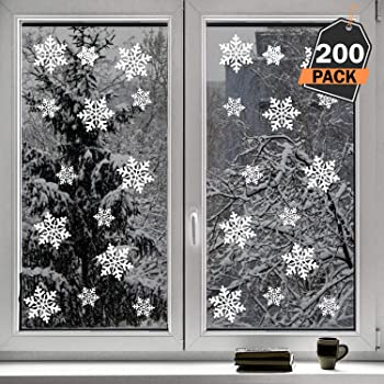 Amazon De Kompanion 200 Pack Schneeflocken Design Fur Winter Und