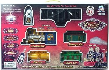 Tabu 21 Pieces Classical Plastic Remote Control Train (Multicolour, HR_38)